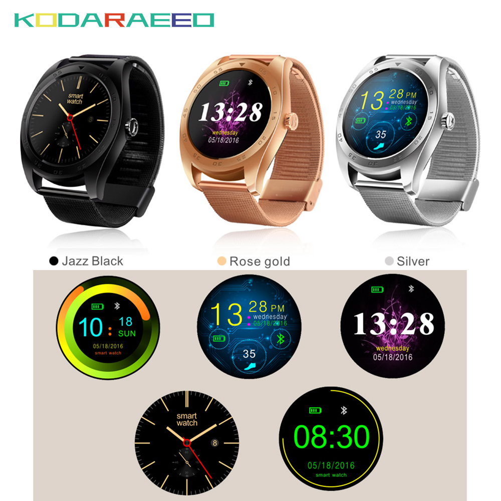 K89 Smartwatchs Bluetooth 4.0 fitness Heart Rate tracker wake up gesture smart watch With Three-axis Accelerometer Loudspeaker