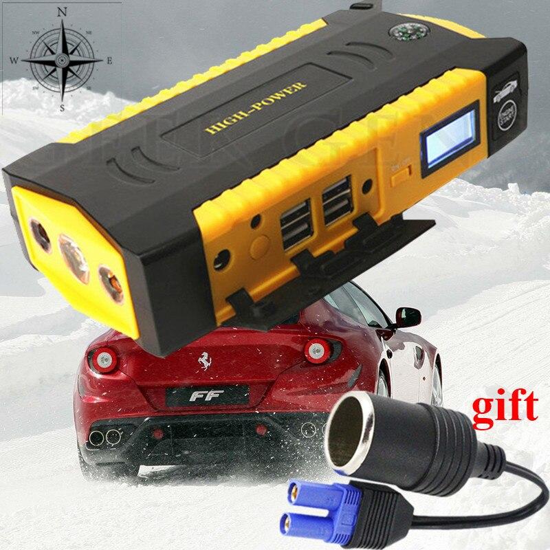 Mini Car Jump Starter 16000mAh 12V Car Battery Booster Jumper Starter 4USB Power Bank Charger For Car Battery Booster Busater CE