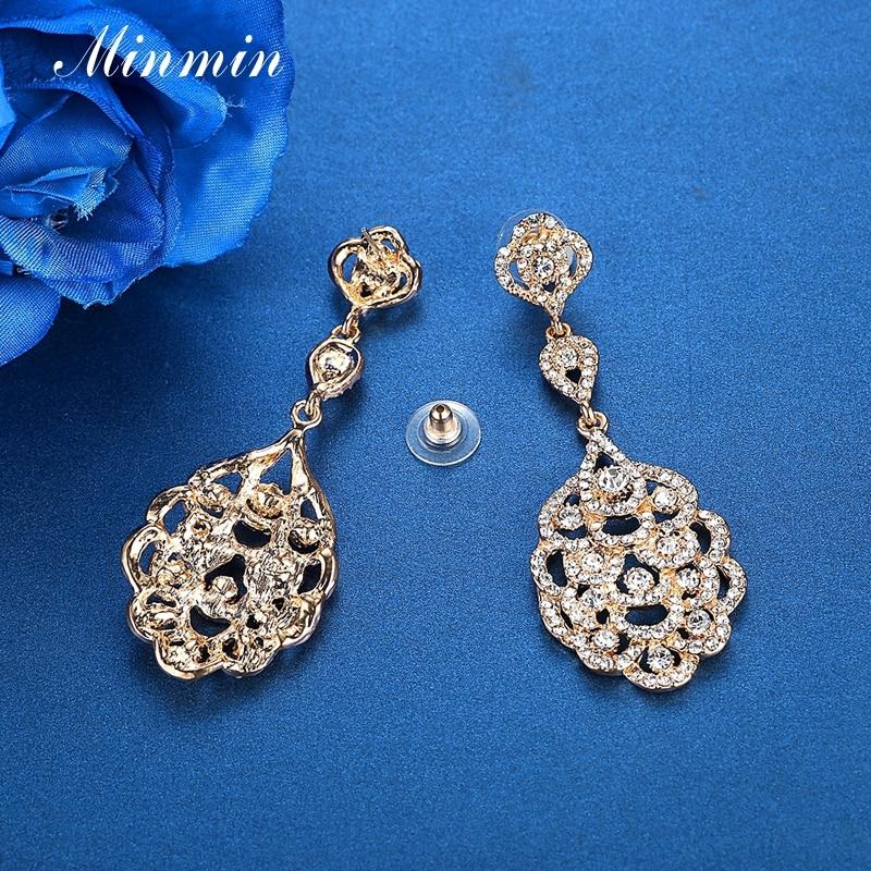 Vathë Minmin Crystal të gjata për femra Vathë të varur me ngjyra - Bizhuteri të modës - Foto 5