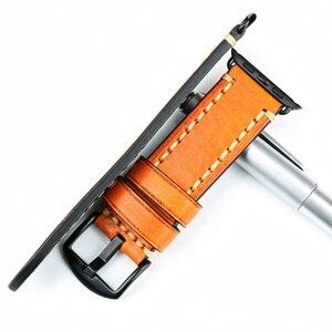 Image 5 - MAIKES Cinturino di Vigilanza del Cuoio Per Apple Watch Band 42mm 38mm/44mm 40mm serie 4/ 3/2/1 tutti i Modelli iWatch Braccialetto cinturino