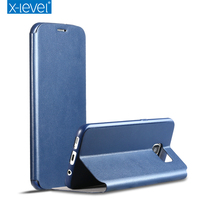 Original X-Level X Level Flip Stand Soft Back Cover PU Leather case for Samsung S7 Edge SM-G9350 Protective Mobile Phone Bag OK1