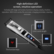 Riwa Quick Charge Men's Hair Trimmer Machine Cordless LCD Display Clipper Styling Haircut Cutter for Baby&Adult riwa led display professional electric men s hair trimmer cutter rechargeable haircut cutting machine clipper for adult children