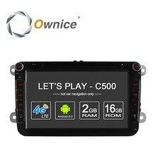 4g lte sim nerwork ownice c500 1024*600 android 6.0 2g ram 2 Din Samochód DVD GPS Navi Radio Player Vw Skoda Octavia 2