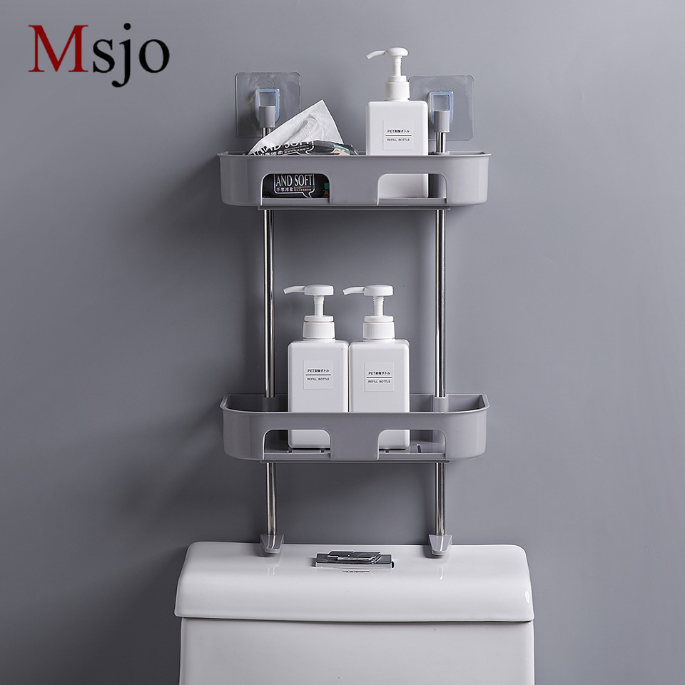 Msjo Multi-function Racks Holders Bathroom Rack Stackable Storage Organizer Kitchen Shelving Spice Jar Rack Shelf Accessoriy
