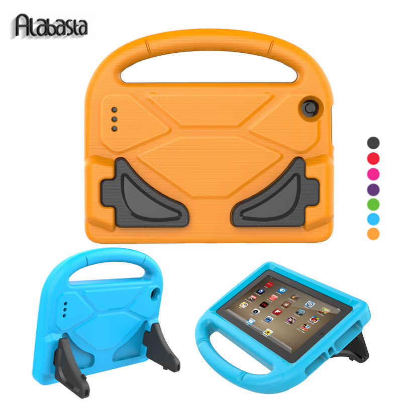 Alabasta Case for Amazon kindle fire 7 2015 2017 Genearl cover 7inch Hand Strap Stand EVA Foorball Design Kids Child Boy Save hot sale fashion kids shock proof case cover for amazon kindle fire hd 7 2015 rugged shockproof case just for you