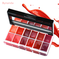 BY NANDA 12 Colors Lips Makeup Brand Girl Woman Professional Make Up Lip Gloss Lipstick Cream Palette Set Beauty Brand 25g