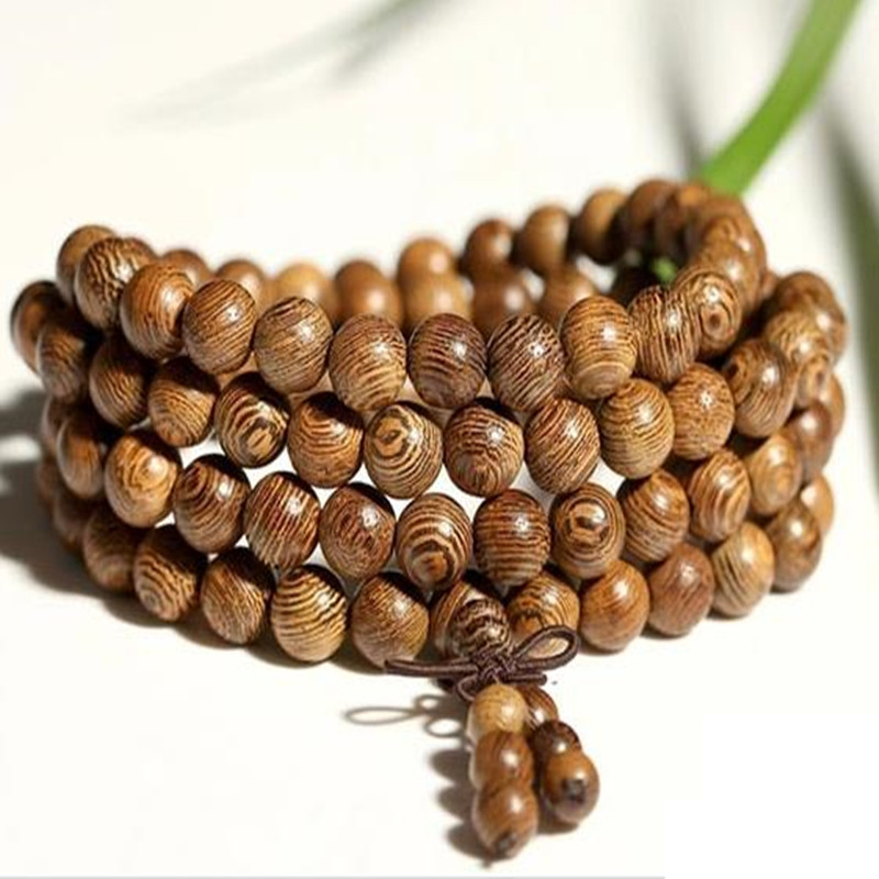 Sennier Wenge Prayer Beads Bracelets For Men Tibetan Buddhist Mala Buddha Bracelet 108 Rosary Wooden Bangle Women Jewelry In Strand From