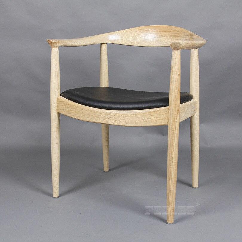 Высококачественные однотонные деревянные гостиничные стулья, панельные стулья, кресло VIP President - Цвет: burlywood