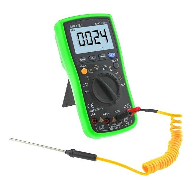 AN870 19999 Counts True-RMS Auto Range Digital Multimeter AC/DC Voltage Meter Drop ShiP