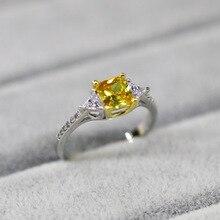 Dense Square Diamond Ring Trendy 18 K White Gold Zircon Vale
