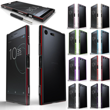 Luxury Shockproof Bumper Case for Sony Xperia XZ1 Aluminum Metal Frame For Sony XZ1 Phone Cases for Sony Xperia XZ1 G8341 G8342 смартфон sony xperia xz1 dual g8342 warm silver