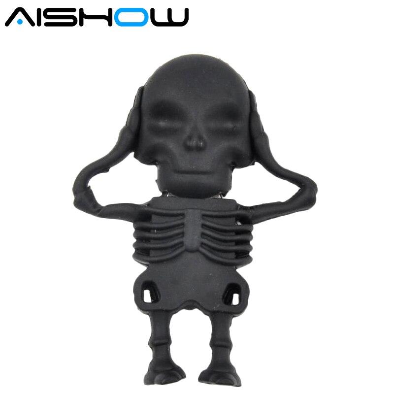 100% real capacity New Arrival Fashion Creative Skull usb flash drives 128MB 1GB 2GB 8GB 16GB 32GB 64GB flash drive pen drive