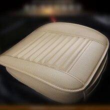 Copertura di sede dellautomobile TAPPETI per auto di bambù del carbone di legna della pelle tre pezzo unico pacchetto di chip cuscino del sedile auto piccolo cuscino antiscivolo