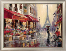 April in Paris,oil painting of Brent Heighton Canvas Reproduction,High quality,Hand-painted,Romantic Art,Paris Landscape