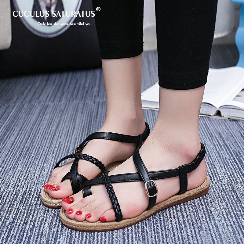 Cuculus 2018 summer shoes flat sandals women aged soft flat fashion sandals comfortable mother shoes free shipping 201 держатель nite ize steelie car mount stsm 11 r7