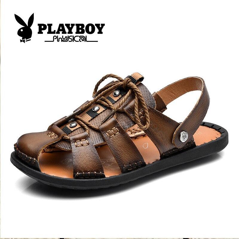 reputable site e1a44 af665 US $47.6 30% di SCONTO|Playboy sandali maschili nuovi traspirante pistoni  freddi, scarpe da spiaggia baotou CX39048 Romano che ristabilisce i sensi  ...