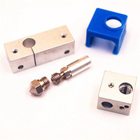 MK10 All Metal Hotend Upgrade Kit For 1 75mm Thermal Barrier Tube Silicone Sock For Flashforge