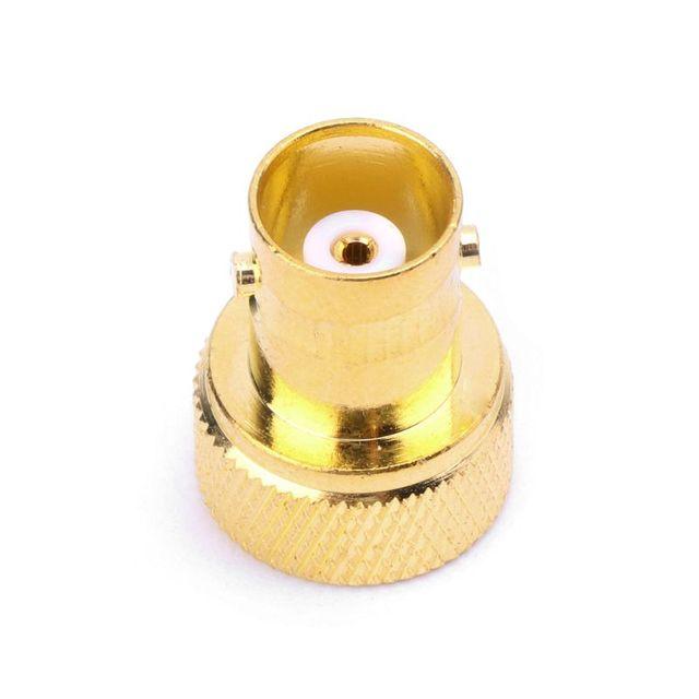 BNC hembra Jack a SMA macho conector RF adaptador convertidor Coaxial recto