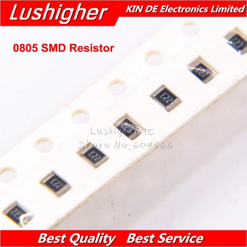 100PCS 0805 SMD Resistor 5% 13K 196R 39K 6.8K 1.6K 820R 560R Ohm 196 39K 6.8K 820 560 1.6K Ohm