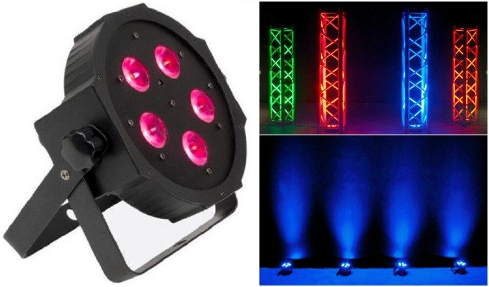 ФОТО 10pcs/lot, Stage LED Par Light Slim 5x15W RGBAW 5in1 Flat DJ bar led light dmx dj party entertainment lighting equipment