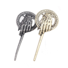 Game of Thrones Song of Ice and Fire Brooch Hand of the King Lapel Inspired Authentic Prop Pin Badge Brooches цена