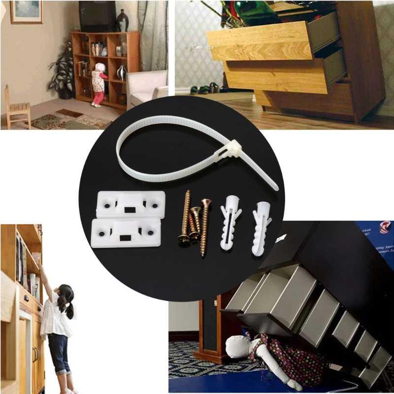 Kolayca ayarlanabilir çocuk güvenliği anti-ucu kayışları kilit koruma Flat TV ve mobilya duvar askısı çok fonksiyonlu kilit