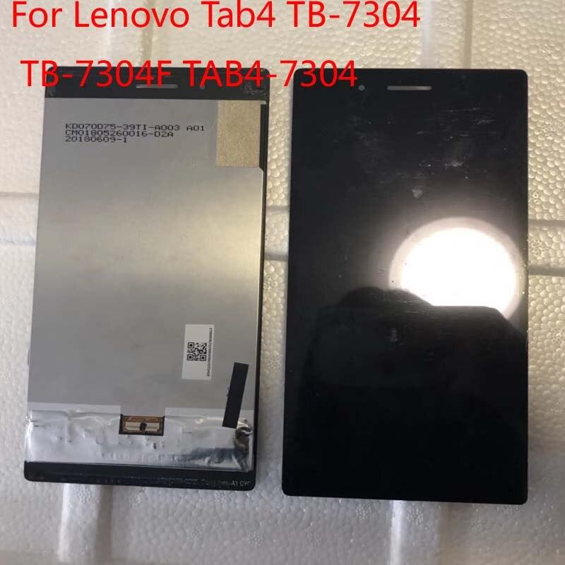 Протестированный для lenovo Tab4 Tab 4 7 эфирный TB-7304 TB-7304F TAB4-7304 7304X ЖК-дисплей кодирующий преобразователь сенсорного экрана в сборе