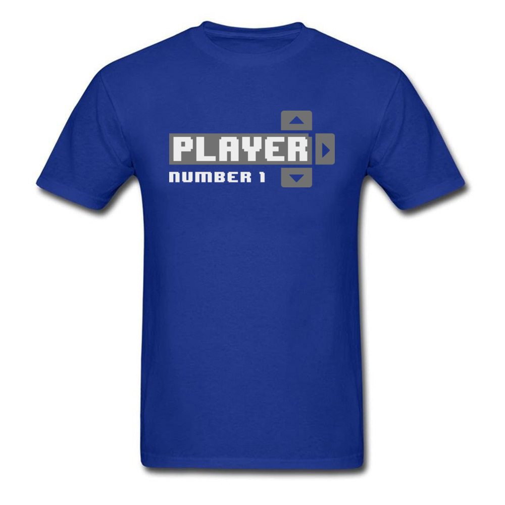 Player Number 1 All Cotton Tops T Shirt for Men Leisure T Shirt 3D Printed Prevailing O-Neck Tops Shirt Short Sleeve Player Number 1 blue
