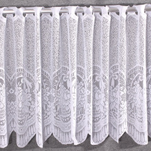 Warp Knitted Jacquard Door Curtain, Full Polyester Lace Kitchen Curtain Decorative L45cmXW150cm