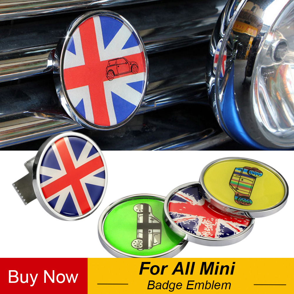 Metal 3D Car Front Bonnet Grille Chrome Badge Emblem Decal For MINI Cooper One Countryman R60 R55 R56 F56 F55 F60 Accessories|3d car|metal 3d|decals for cars - title=
