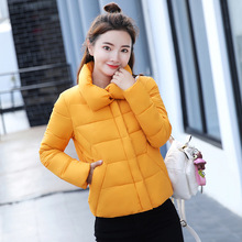 2018 fashion new solid color soft winter coat women short paragraph thick warm warm Slim long-sleeved down cotton jacket цена