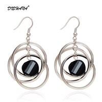 Hot Sale New Style Fashion Acrylic Three Circles Female Drop Earrings Long Earrings For Women Free