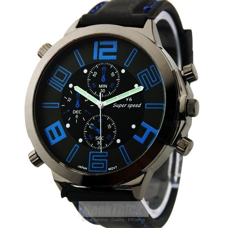 2015 Relojes Hombre grandes Dail acero inoxidable marca reloj de ... ad153ea6c59d