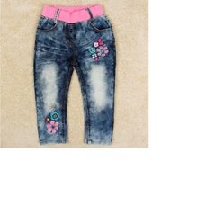 Free shipping 2016 autumn new children's jeans girls jeans in children