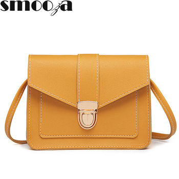 SMOOZA Fashion Small Crossbody Bags for Women 2019 Mini PU Leather Shoulder Messenger Bag for Girl Bolsas Ladies Phone Purse