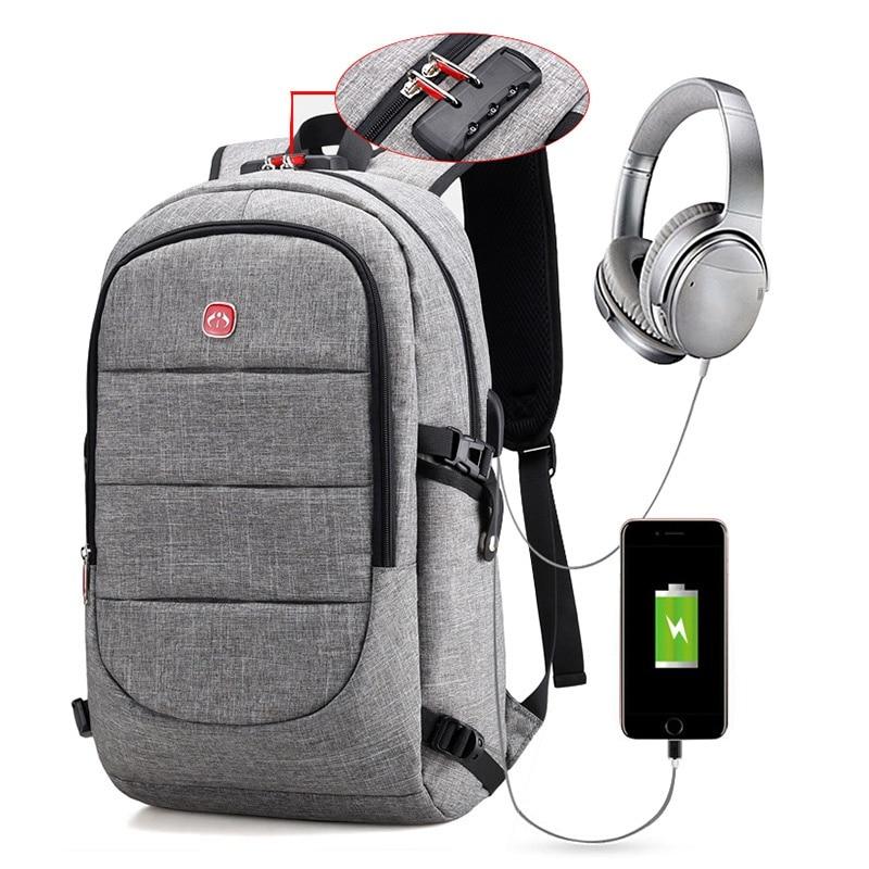 Anti-theft Back pack Women Male USB Charging Backpack Men Bagpack Notebook Laptop back packs Teenager Schoolbag for Travel