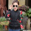 2017 Winter Woman Clothes Thicken Warm Short Jackets Women Plus Size 3XL Floral Printed Outerwear Coat Casual Down Cotton Parkas