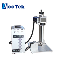 Мини 20 Вт 30 Вт 50 Вт волоконно лазерная маркировочная машина для продажи печатной плате, мобильного телефона shell Китай Цзинань AccTek