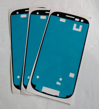 50pcs/lot Front Frame Adhesive Sticker For Samsung Galaxy S3 i9300 i9305 Brand New Frame Sticker  High Quality Free Shipping