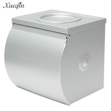 Xueqin Aluminum Waterproof Bathroom Toilet Paper Holder Roll Tissue Box With Ashtray Hotel Restaurant Paper Rack