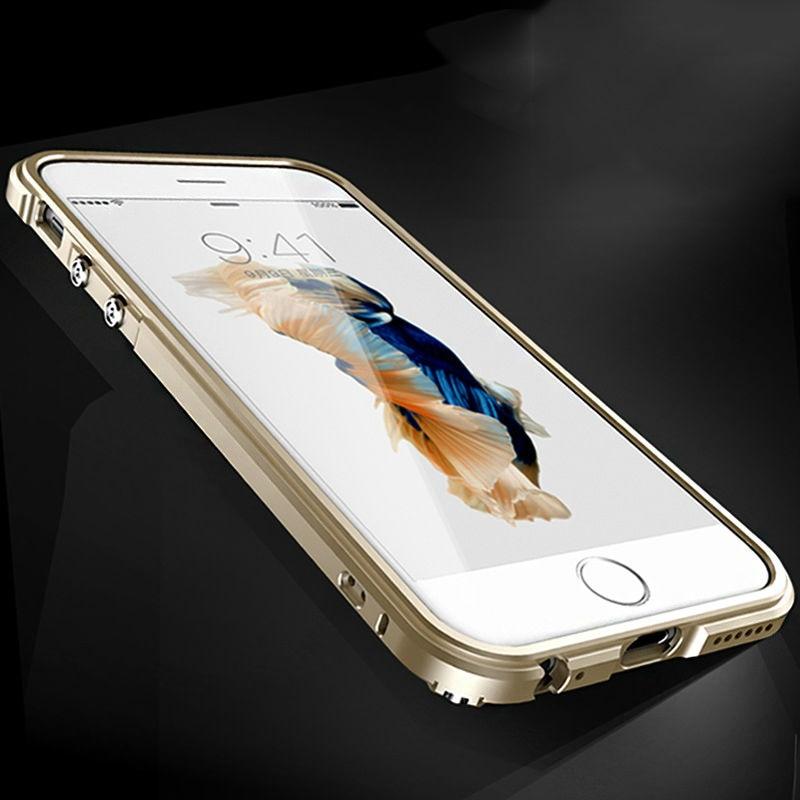 Luxury Aluminum Metal Bumper Phone Case Cover for iPhone 6 s iPhone6 6s iPhone7 7 Plus 6Plus 7Plus Protective Coque Capinha