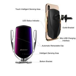 Image 3 - Qi Drahtlose Auto Ladegerät 10W Schnelle Lade Halter Kompatibel Automatische Spann Schnelle Lade Telefon Halter Halterung Für Smartphone