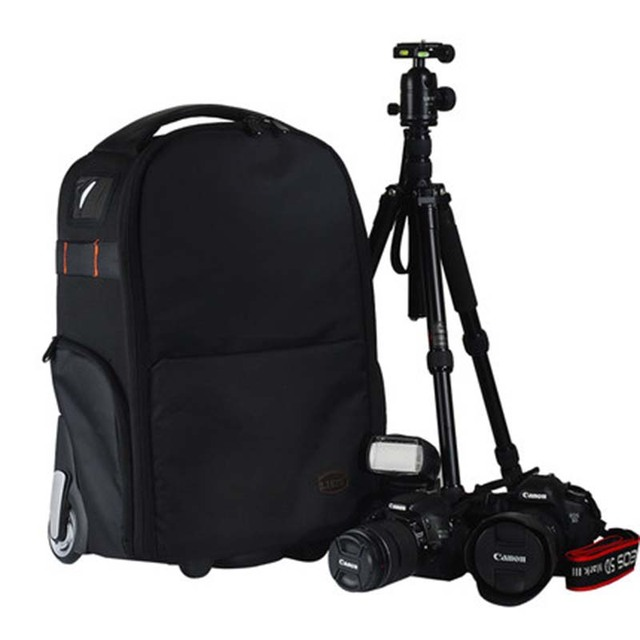 Large-capacity camera bag multi-function photography trolley bag boarding computer bag backpack suitcase wheel carry on luggage