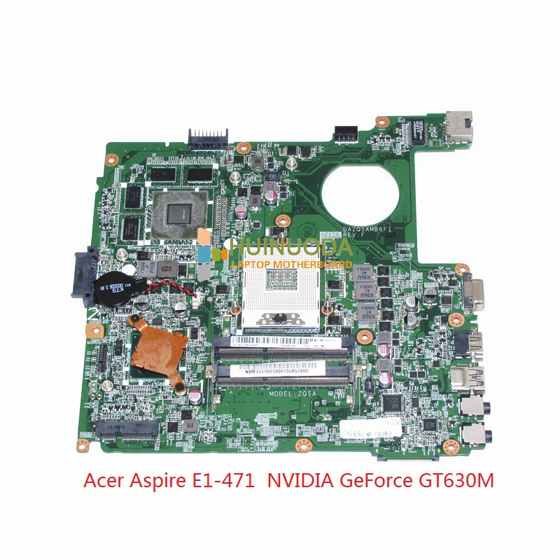 DAZQSAMB6F1 NBM7511001 NB.M7511.001 for acer aspire E1-471 Laptop motherboard NVIDIA GeForce GT630M 1GB HM77 mainboard