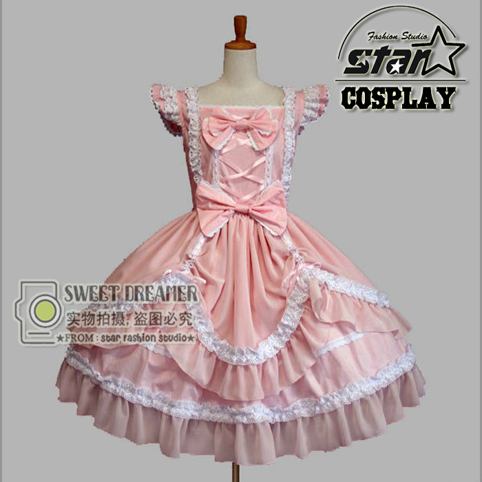 Girls Princess Dress Halloween Victorian Gothic Lolita Dress Cosplay Lolita Costume Children Maid  Layered Dress Cosplay Games 3pcs girls maid lolita alice in wonderland costume cosplay fancy dress outfits