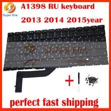 "5pcs/lot RU Russian Keyboard For Apple Macbook Retina 15"" A1398 Russian Keyboard Replacement Keyboard 2013 2014 2015year"