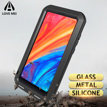 Love Mei Metal Case For Xiaomi Mi 6 8 9 Max 2 Max 3 MIX 2 MIX 2S Shockproof Phone Cover For Xiaomi 9 Rugged Anti-Fall Armor Case(China)