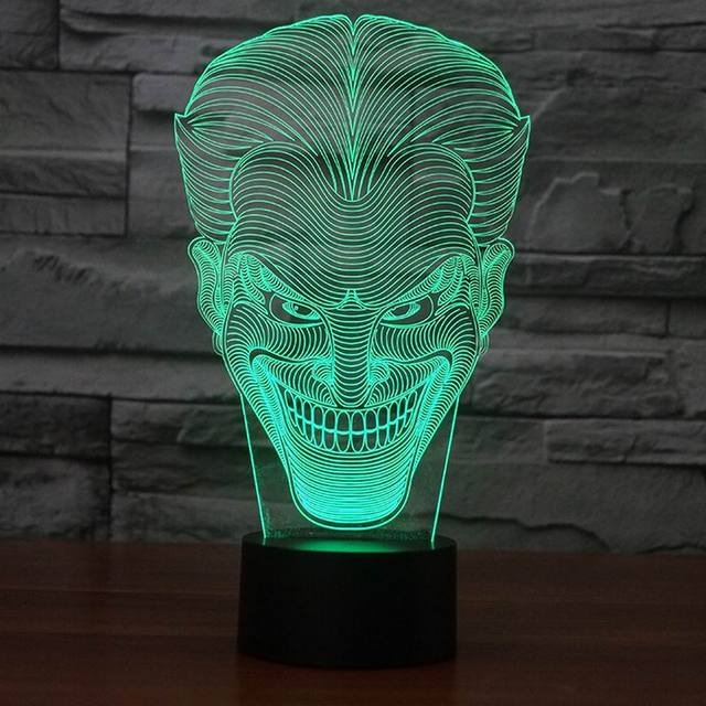 Amazing joker 3D Illusion Night Light