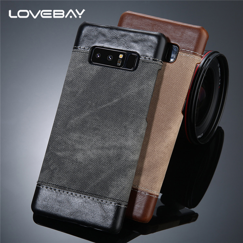 Lovebay Phone Case For Samsung Galaxy S8 S8 Plus Note 8 Retro Cloth Skin Leather And PC Shockproof Fundas For Galaxy Note 8 Case