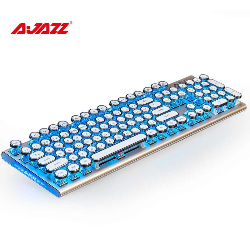 d27a72f7e35 ... Ajazz AK40 Retro Steampunk Typewriter USB Wired Ergonomic  Monochrome/RGB Backlit Mechanical Gaming Keyboard N ...